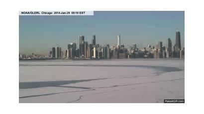 Ice Lake Movement Michigan Chicago Webcam