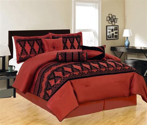 burgundy and black comforter set 7 maryland burgundy and black comforter set ebay