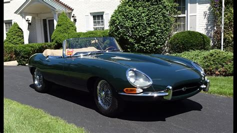 1964 Jaguar E-type Convertible In Green With Engine Start