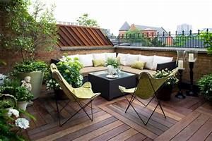 Salon Jardin Balcon : d co balcon et terrasse d 39 appartement en ville ~ Teatrodelosmanantiales.com Idées de Décoration
