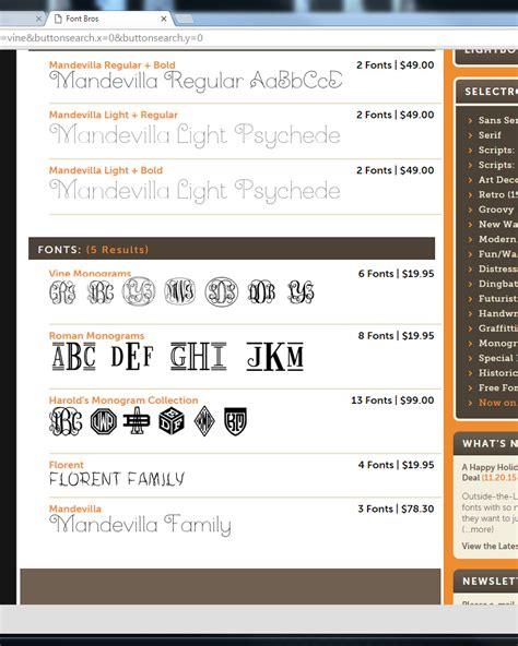 vine monogram forum dafontcom