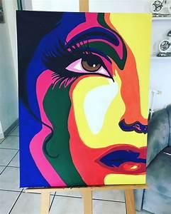 Peinture Visage Femme : tableau peinture acrylique visage femme couleurs peintures pinterest peinture tableau ~ Melissatoandfro.com Idées de Décoration