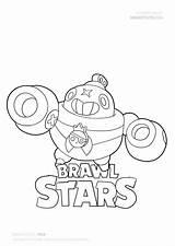 Brawl Stars Coloring Pages Draw Tick Drawing Star Leon Easy Brawlstars Tutorials Mycoloring Werewolf Season Sketch Character Fanart Pixel sketch template
