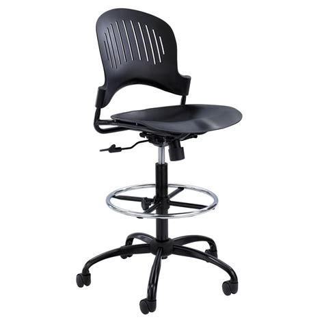 extended height desk chair modern zippi plastic extended height chair black zuri
