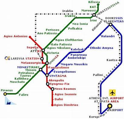Athens Metro Greece Map Attiko Getting Around