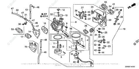 Honda Small Engine Parts Oem Diagram For