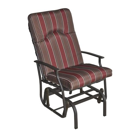 amalfi padded single glider chair in burgundy and