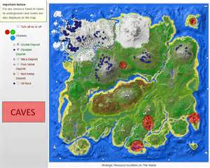 The Ark Crystal Island Map Locations