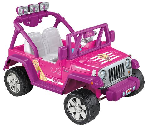 pink toy jeep amazon com power wheels barbie deluxe jeep wrangler