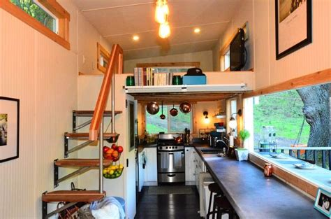 small homes interiors 224 square tiny house trailer interiors tours