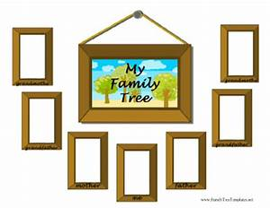 picture of family tree template - picture frame family tree template