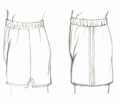 Manga Clothes Draw Short Gym Shorts Side