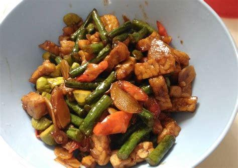 Resep praktis memasak tumis tempe kacang panjang pedas manis. Resep Tumis kacang panjang tempe kecap tersimple oleh Mei - Cookpad