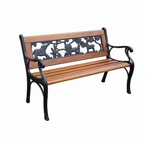 Shop Garden Treasures 16 26-in W x 32 4-in L Patio Bench