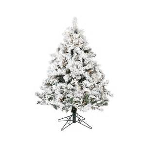 Heavy Duty Rotating Artificial Christmas Tree Stand by Shop Vickerman 4 5 Ft Alaskan Pine Flocked Artificial