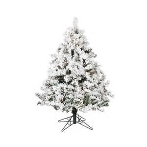 4 Flocked Artificial Christmas Trees by Shop Vickerman 4 5 Ft Alaskan Pine Flocked Artificial