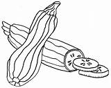 Zucchini Coloring Clipart Vegetable Clip Printable Abobrinha Cortada Vegetables Collage Lasagna Colorir Fruits Template Desenho Imprimir Tudodesenhos Sketch sketch template
