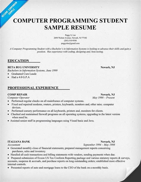 Gamer Resume by Resume Exle