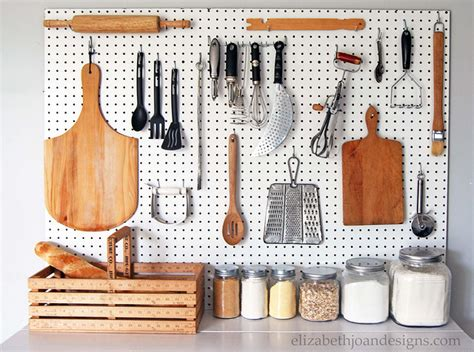 pegboard kitchen storage hanging storage diys you can craft right now 1446