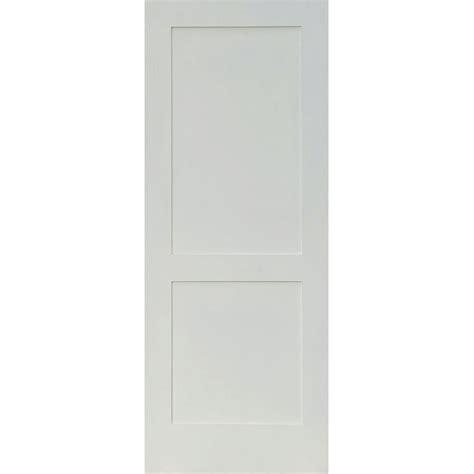 home depot 2 panel interior doors krosswood doors 32 in x 80 in craftsman shaker primed