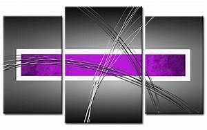 giclee canvas print metal purple modern art 3 parts framed With best brand of paint for kitchen cabinets with ebay abstract wall art