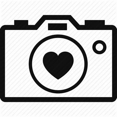 Camera Heart Clip Icon Transparent Icons Clipart