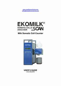 Manual    User Guide Of Ekomilk Scan
