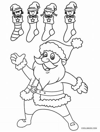 Santa Coloring Pages Cool2bkids Printable