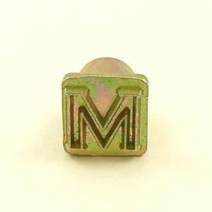 12mm modern letter m embossing stamp artisanleathercouk With single letter embosser