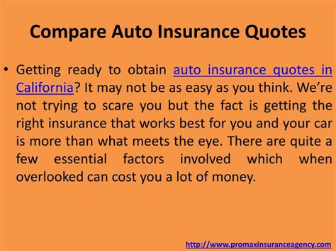 Compare Car Insurance Quotes - ppt auto insurance in california powerpoint