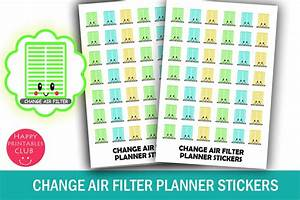 Air Filter Change Reminder Stickers  Graphic  By Happy