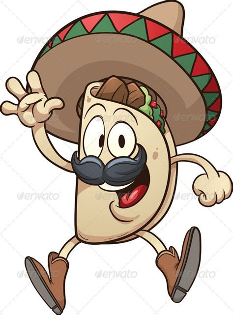 mexican taco mexican tacos taco cartoon illustration