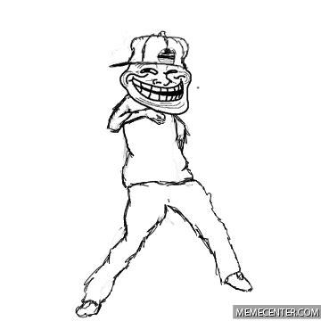 Dancing Troll Meme - troll face dancing by calvinandhobbscomics meme center