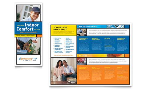 heating air conditioning brochure template design