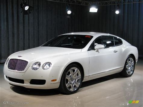 white bentley 2007 ghost white pearlescent bentley continental gt