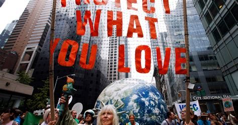Climate March Brings Thousands of People to Protest Donald ...