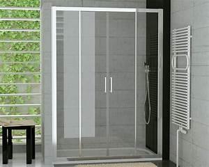 Duschkabine 175 Cm Hoch : nischent r schiebet r 4 tlg duschabtrennung duscht ren ~ Michelbontemps.com Haus und Dekorationen
