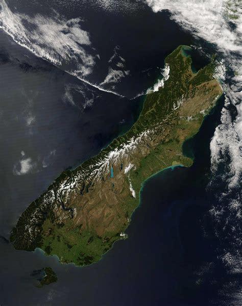 New Zealand South Island Satellite Image