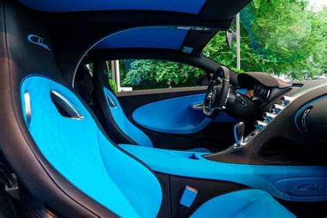 New black with gold accents chiron from germany yes or no 4 u? Take a look inside of the #Bugatti #Chiron - The interior ...