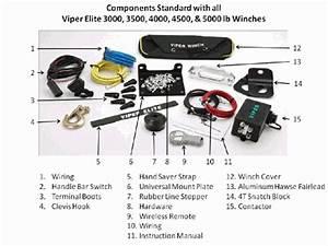 Viper Elite Utv Winch  U0026 Mount Kit