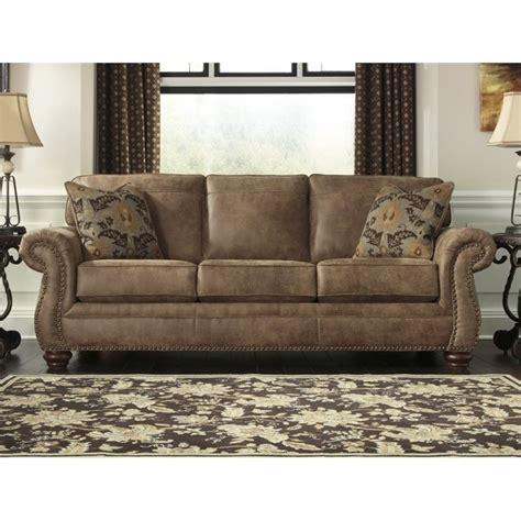 larkinhurst queen sofa sleeper ashley larkinhurst faux leather queen size sleeper sofa in