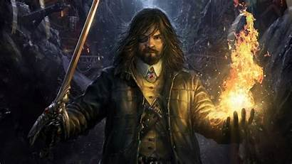 Sorcerer Fantasy Wallpapers Wizard Pirate Fire Mage