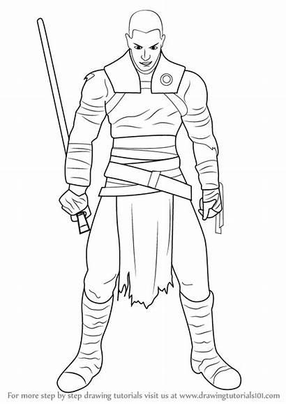 Wars Star Draw Marek Galen Drawing Step