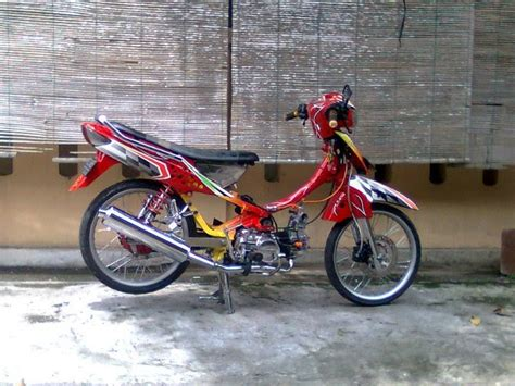 Modif Smash by Fashion Modif Motorcycle Modified Paint Brush Honda