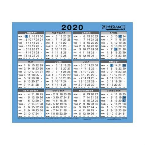 glance walldesk calendar year view gloss board
