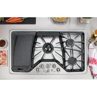 ge cafe series cgpsetss  gas cooktop stainless steel