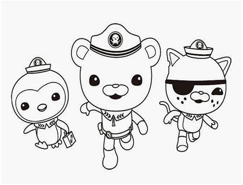 octonauts coloring pages    print