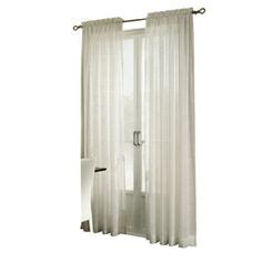 Allen Roth Curtains Bristol by Style Selections 84 In L Mineral Sheer Curtain I M