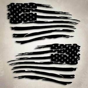 american flag distressed decal sticker compatible with jeep chevy big size ebay