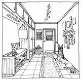 Perspective Coloring Pages Drawing Point Interior Drawings Perspektiv Colouring Skisser Sketch Lessons Sheets Adult Google Soek Magazine Sketches Admin Site sketch template